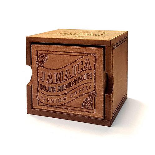 Кофе Ямайка Блю Маунтин, в зернах, средняя обжарка, в деревянной шкатулке
