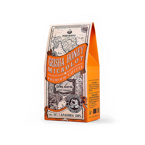 Кофе Гейша Хани, молотый в чашку, средняя обжарка, пакеты 10 шт х 10 г
