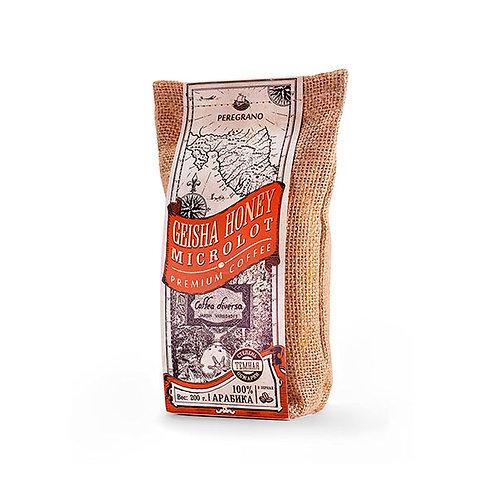 Кофе Гейша Хани, в зернах, темная обжарка, упаковка 200 г
