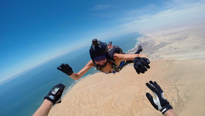 Намибия, прыжки с парашютом над самыми высокими в Мире песчаными дюнами