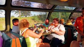 На поезде по панамскому каналу, даже тут любят пожрать