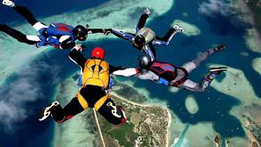 Прыжки с парашютом на краю света