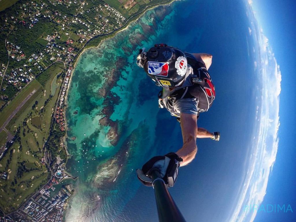 Гваделупа, прыжок с парашютом