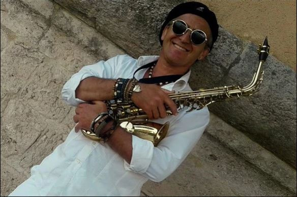 Saxophonist in Provence