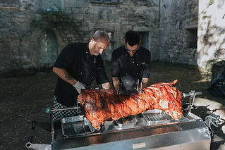 PK wedding caterers specialise in spit roasts and barbecues as well as more traditional wedding fayre.