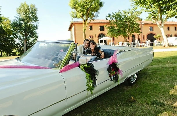 Classic Wedding cars in South-west France