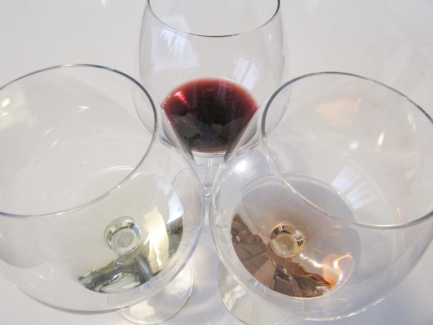Glasses for wine tasting Bordeaux