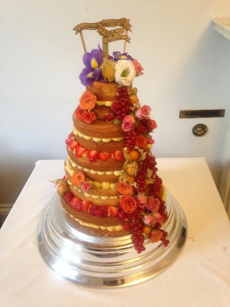 The Taste Parlour naked wedding cake
