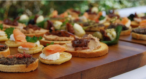The Chef's Kitchen canapés