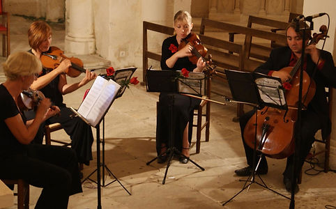 A professional string quartet. Available to hire as a solo, duo, trio or quartet throughout South-West France.