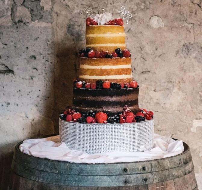 JM wedding chef naked cake