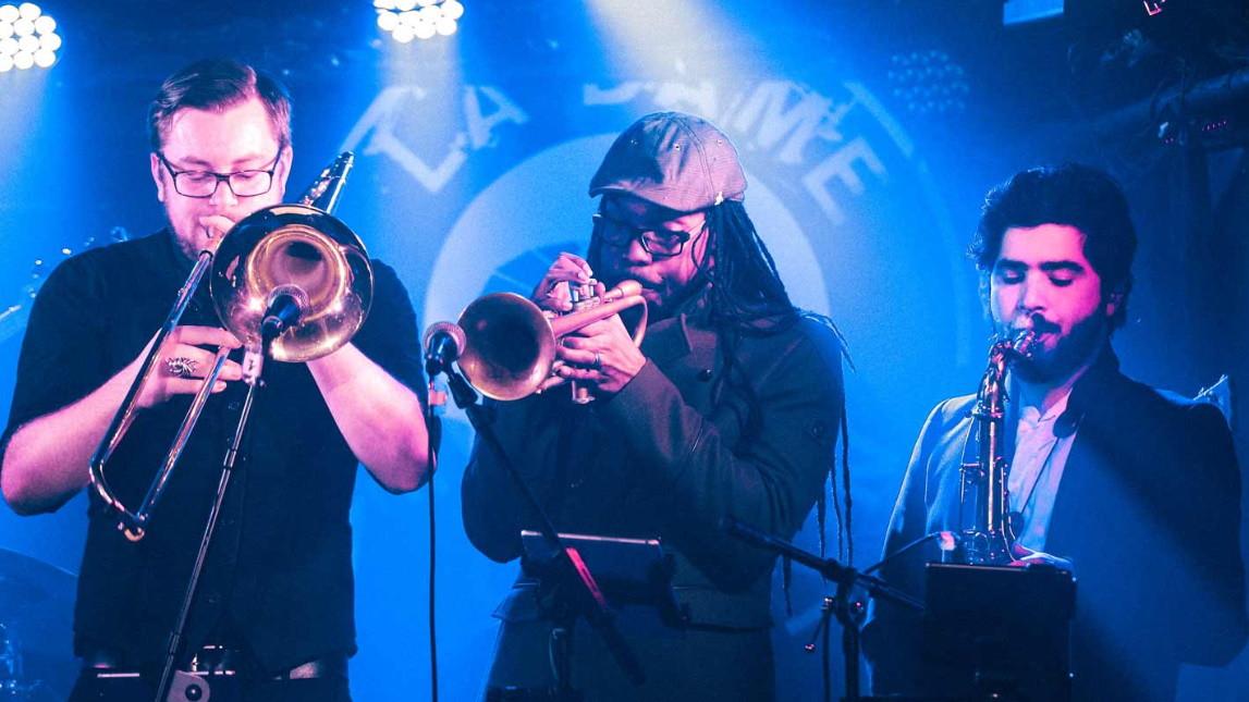 Pop Machine Brass section