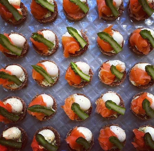 The Taste Parlour salmon canapes