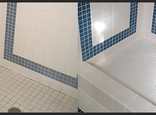 How to clean tile grout the easy way!