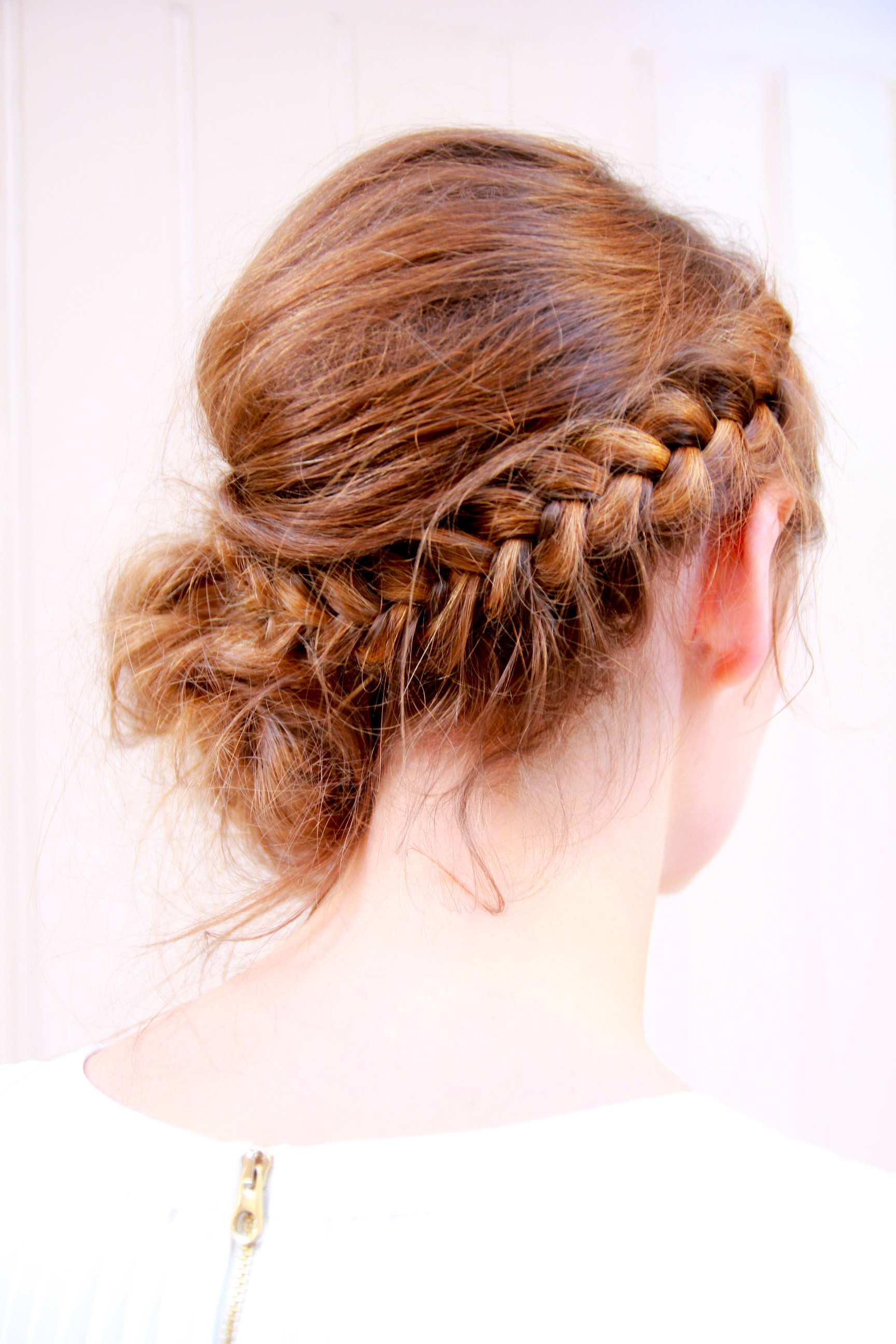 Romantic braided simple side udpo