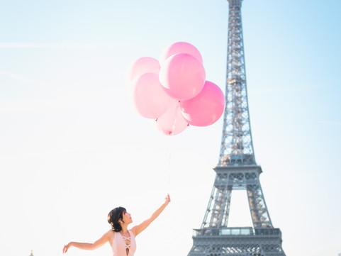 Cindy & Justin, Playful Paris Honeymoon Shoot