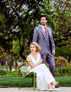 jardin du luxembourg bridal shoot