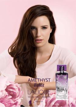 Publicité Parfum Améthyst de Lalique