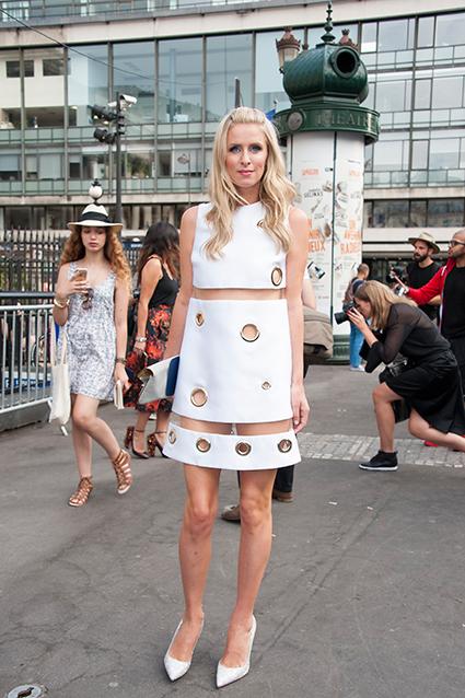 Nicky Hilton attending Versace Show