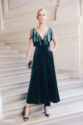 Had fun taking care of Olympia's hair and makeup look attending Valentino Couture Show in Paris during the last PFW.