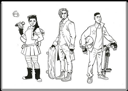 copy of 3 O'clock Club character design part 1