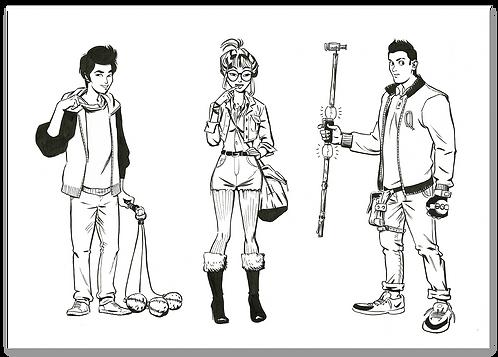 3 O'clock Club character design part 2