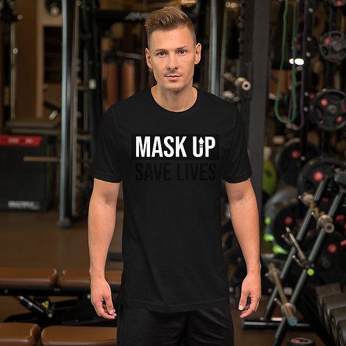 Mask Up - Short-Sleeve Unisex T-Shirt