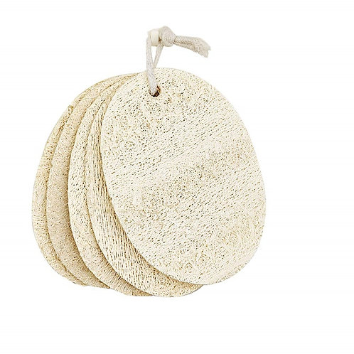 3 Pack Loofah Cleaning Sponge, Natural Loofah Pads