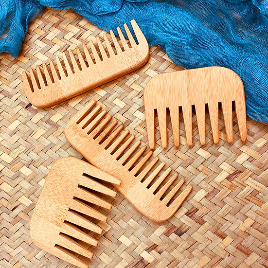 Bamboo Wooden Combs Beard Care Grooming Comb Square
