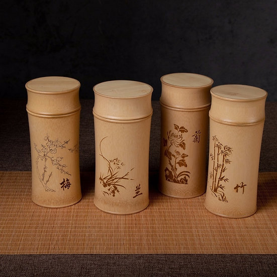 Large Capacity Natural Bamboo Storage Jars for Bulk Products Kitchen Accessories