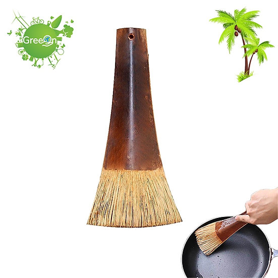 Natural Eco-Friendly Coconut Palm  Kitchen Brush
