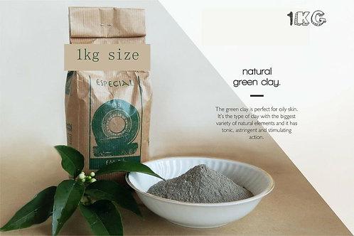 5A+ Pure Organic French Green Clay Fine Powder 2.2 LBS – 1 Kg Free Ship