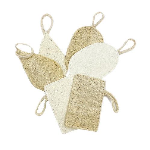 100% Natural Loofah Sponge Exfoliating Facial Body Scrubbers Pad