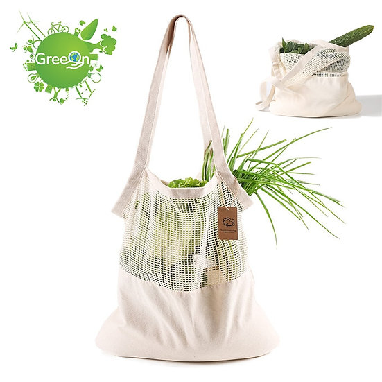 Eco-Friendly Organic Cotton Mesh/Cloth Bag  Shopping Tote  (Washable)