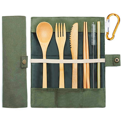 Bamboo Travel Utensils Sustainable Bamboo Cutlery Set