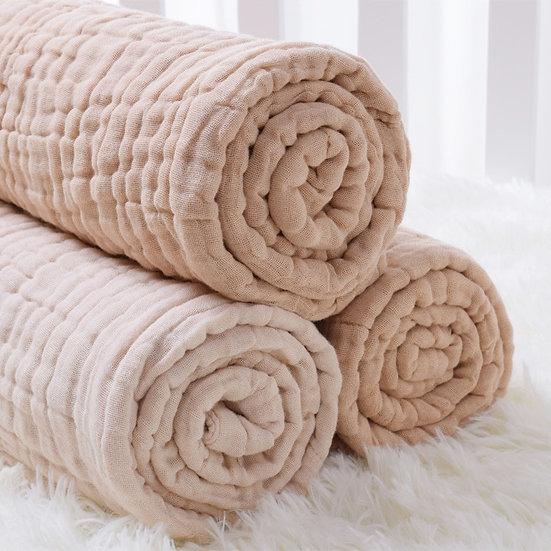 100% Organic Cotton Baby Muslin Bath Towel/ Blanket 6 Layers Gauze Baby  Blanket