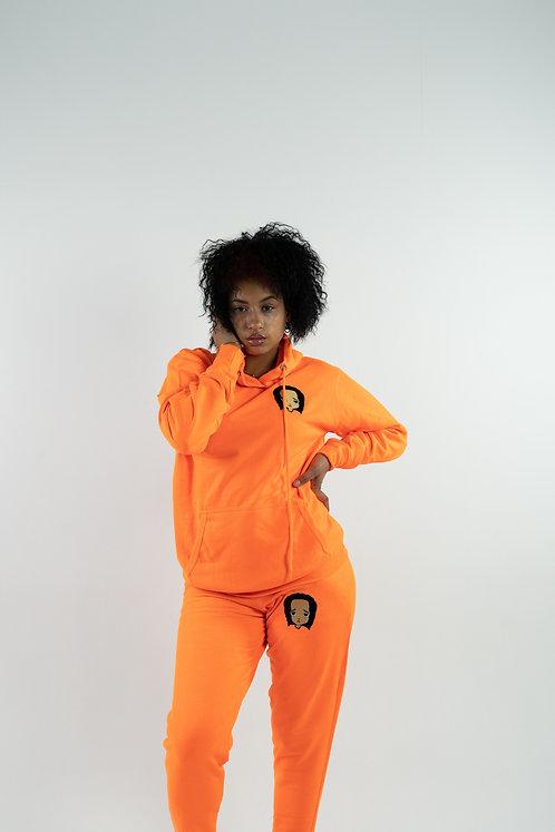 Neon Orange Sweatsuit