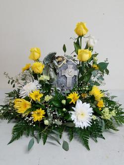 Yellow Cremation/Memorial Riser