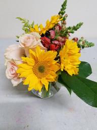 Rose & Sunflower Ivy Bowl