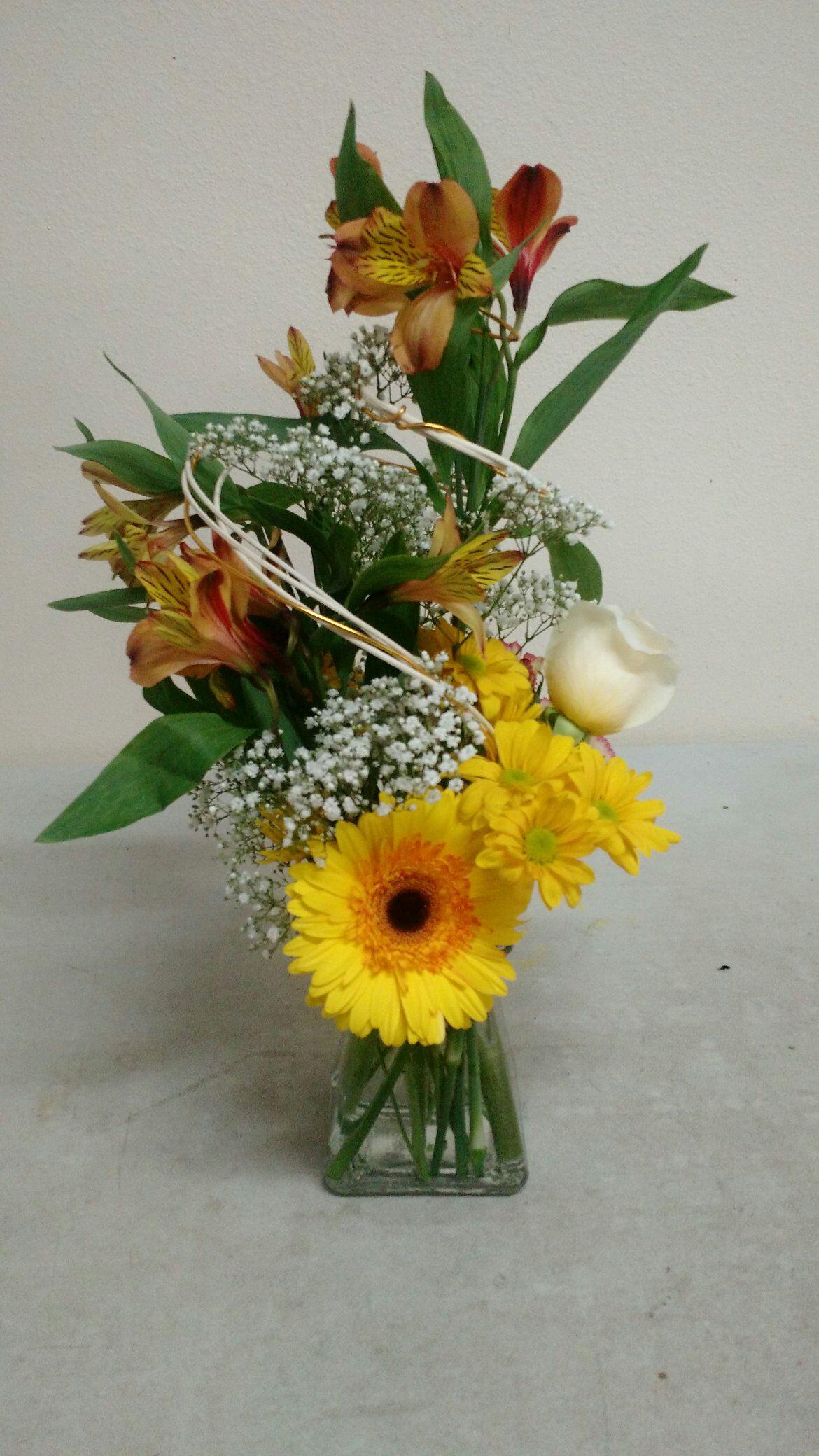Yellow Gerbera arrangement
