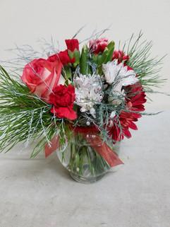 Red & White Ivy Bowl