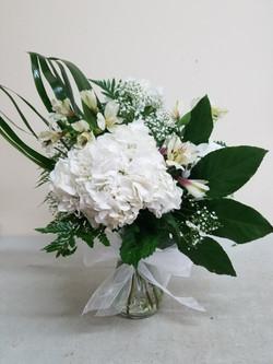 White & Green Arrangement