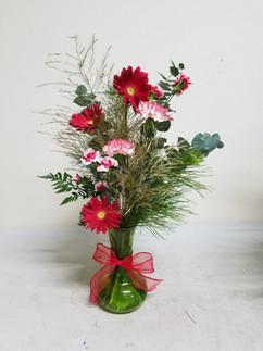 Gerbera daisy & Peppermint Carnation Arrangement