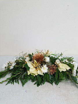 Large White & Gold Centerpiece