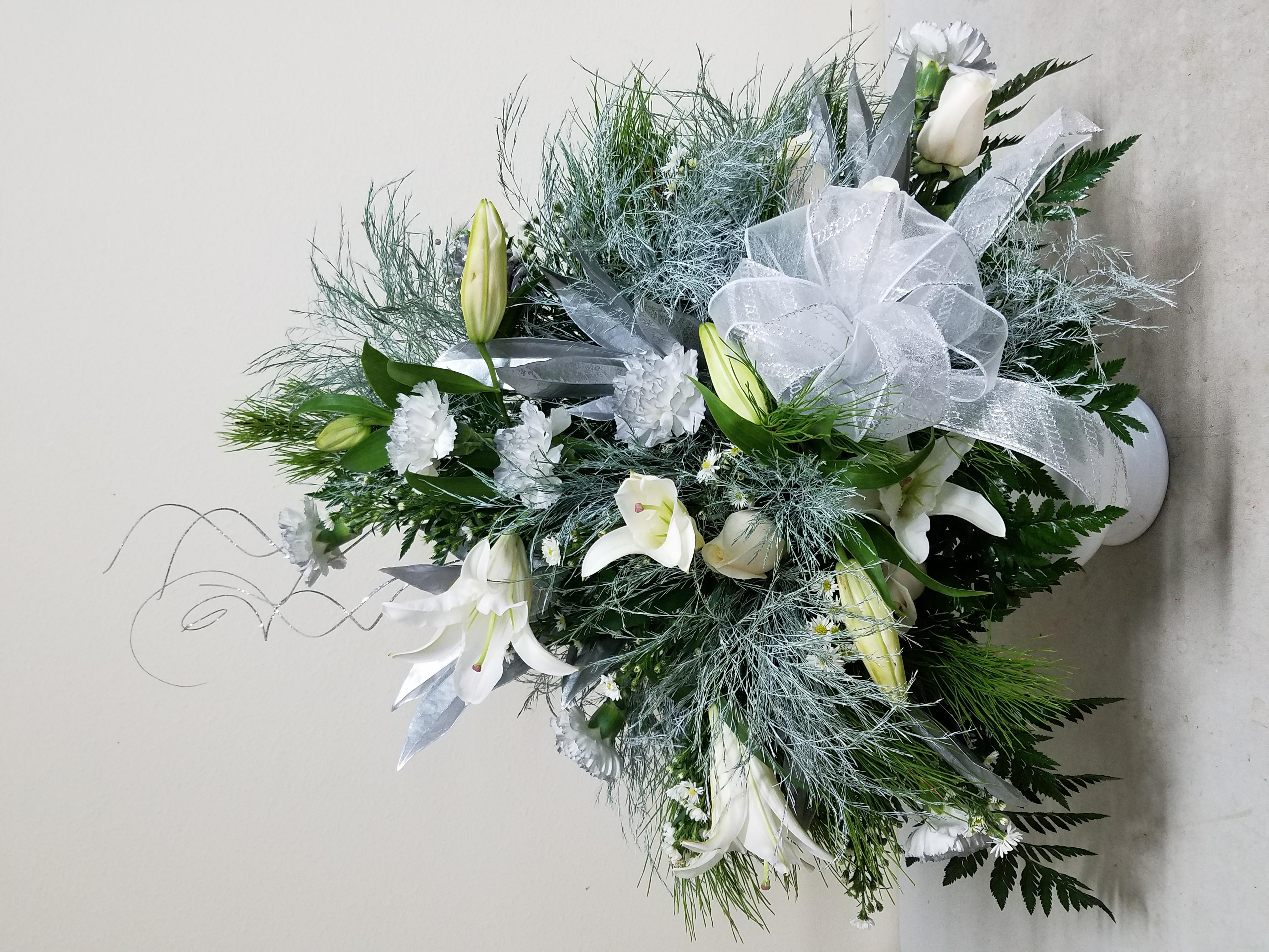 Silver & White Winter Arrangement