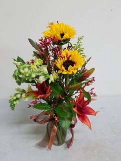 Sunflower & Lily Arrangement