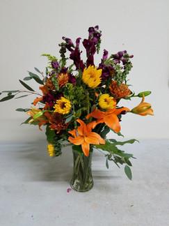 Orange, Yellow & Purple Arrangement