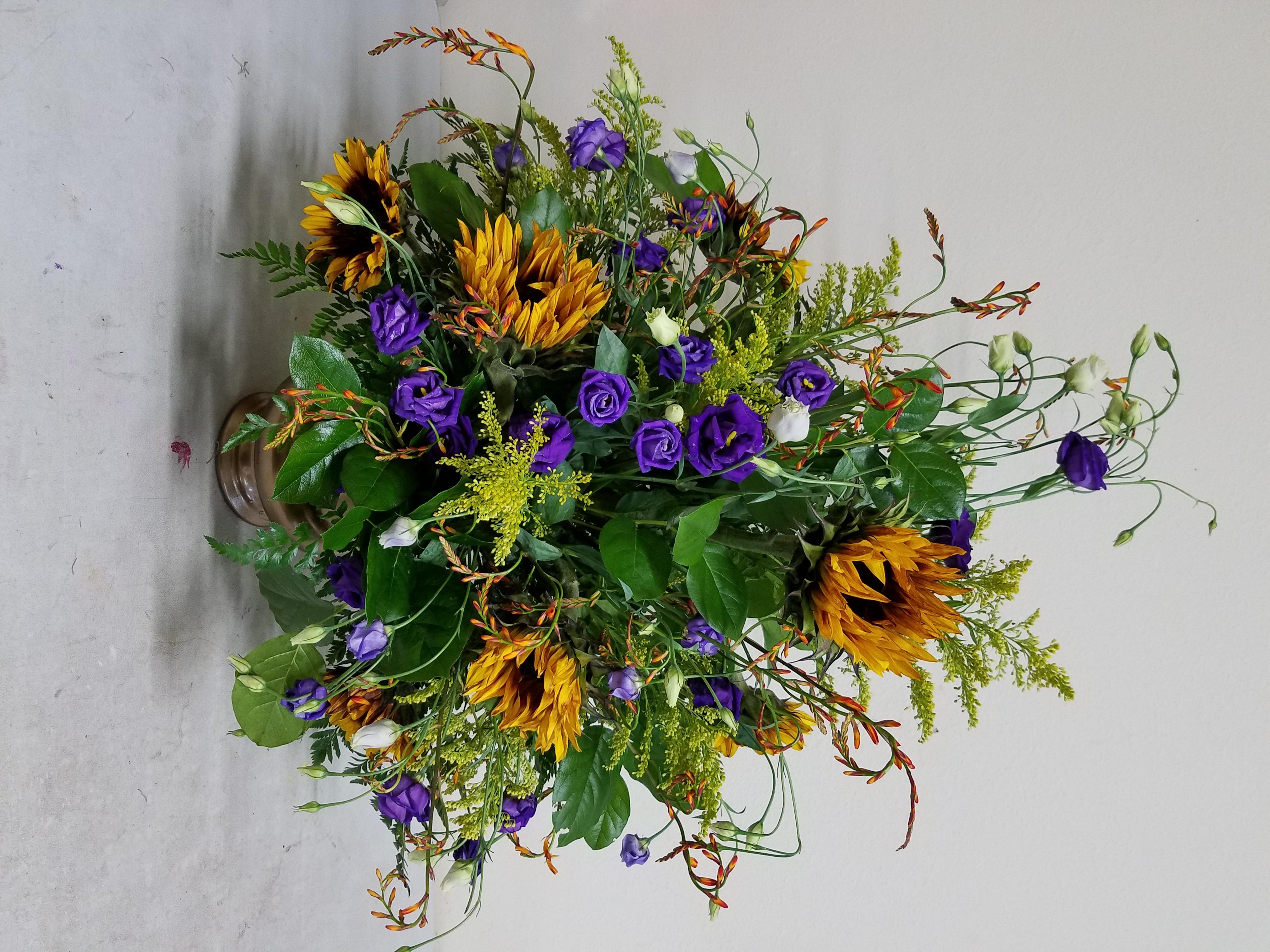 Sunflower & Lisianthus Arrangements