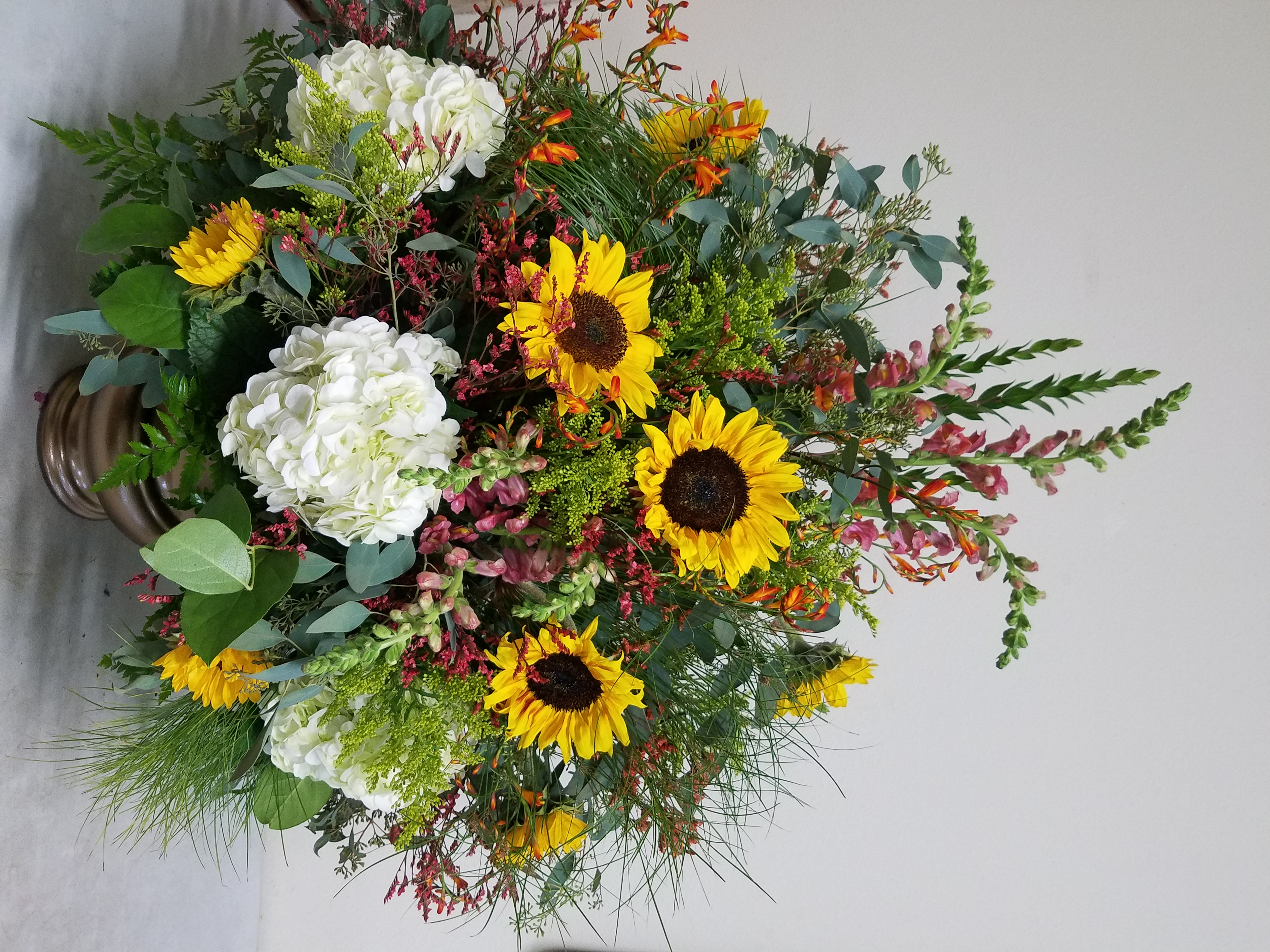 Sunflower & Hydrangea Arrangement