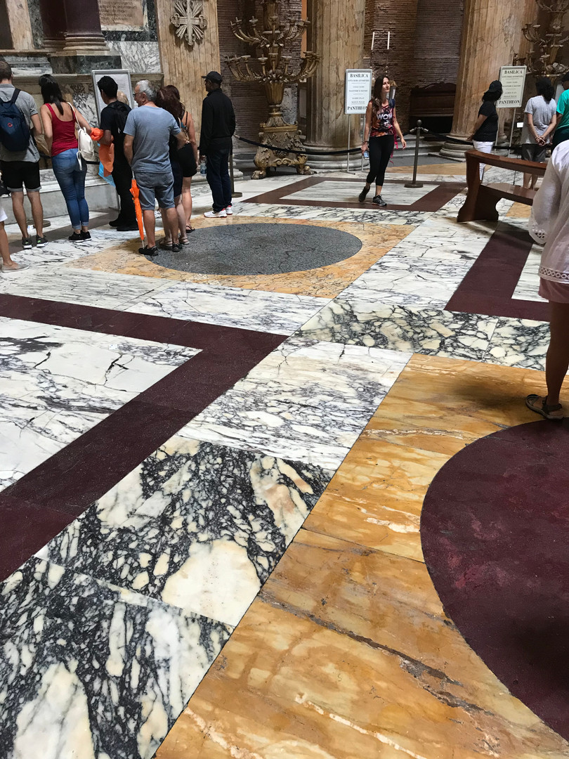 The Pantheon's remarkable marble floor